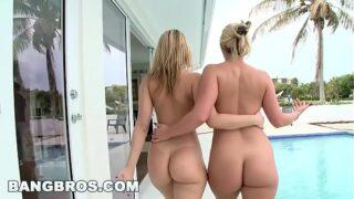 dos gueras nalgonas saciando sus sed de sexo después de llegar de la playa